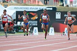 BAHI Neda, BENSON Johanna, FRANCOIS-ELIE Mandy, KRAVCHENKO Viktoriya, TUN, NAM, FRA, UKR, 100m, T37, 2013 IPC Athletics World Championships, Lyon, France