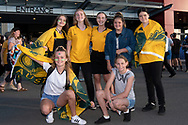 NEWCASTLE, NSW - NOVEMBER 13: Australian fans at the international women's soccer match between Australia and Chile at McDonald Jones Stadium in NSW, Australia. (Photo by Speed Media/Icon Sportswire)