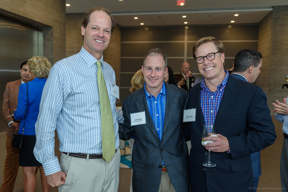John Nelson, Scott Schwartz and Robert English at the 10-year anniversary celebration of Republic Bank's Private Banking and Business Banking divisions Wednesday, May 17, 2017, at the Speed Art Museum in Louisville, Ky. (Photo by Brian Bohannon)