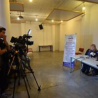 TOLUCA, México.- (Septiembre 27, 2018).- Obed Aguilar y Rosy en conferencia de prensa hicieron un llamado a las personas con diversas discapacidades para participar en el primer Concurso Nacional de Talentos Discapacitados organizado por el Cetro de Atención Psicopedagógica y Desarrollo Infantil (CAPPDI) y  las fundaciones Un Mismo Pulso y de la Mano por un Sueño. Agencia MVT / Crisanta Espinosa.
