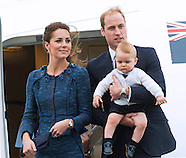 KATE , Princes William & George Depart New Zealand