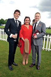 Left to right, IOAN GRUFFUDD, LINDSAY BRUNNOCK and SIR KENNETH BRANAGH at the Cartier Queen's Cup Polo Final, Guards Polo Club, Windsor Great Park, Berkshire, on 17th June 2012.