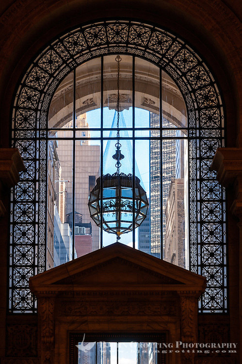 US, New York City. Interior detail, New York Public Library at 5th Avenue.