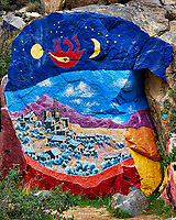 Modern Rock Mural near Chloride by Artist Roy Purcell. There are a lot of very colorful murals in this location started in 1966. Image taken with a Nikon D3 camera and 24-120 mm f/4 lens (ISO 400, 55 mm, f/8, 1/250 sec).