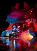 KELOWNA, CANADA - SEPTEMBER 22:  Rocky Raccoon at the Kelowna Rockets game on September 22, 2017 at Prospera Place in Kelowna, British Columbia, Canada.  (Photo By Cindy Rogers/Nyasa Photography,  *** Local Caption ***