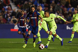 January 10, 2019 - Valencia, Valencia, Spain - Jose Luis Morales of Levante UD and Jeison Murillo of FC Barcelona during the Spanish Copa del Rey match between Levante and Barcelona at Ciutat de Valencia Stadium on Jenuary 10, 2019 in Valencia, Spain. (Credit Image: © AFP7 via ZUMA Wire)