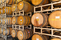 Wine Casks in rows and stacks