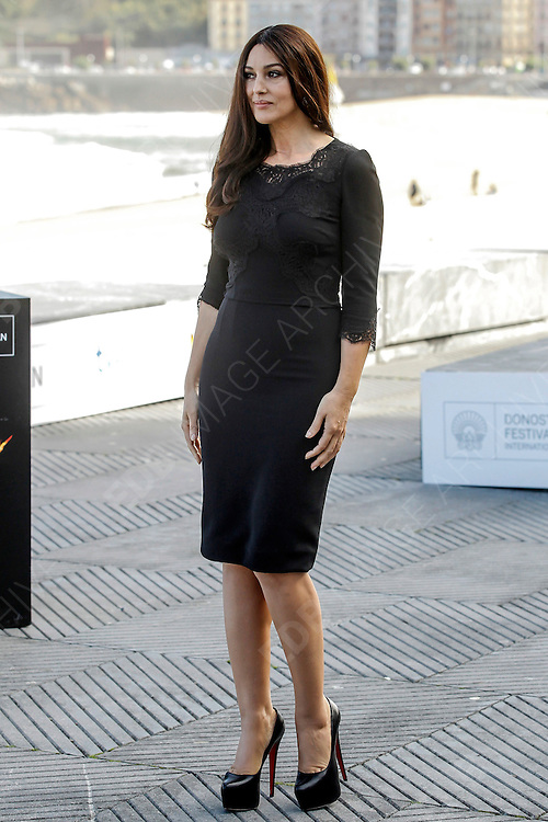 27.SEPTEMBER.2012. SAN SEBASTIAN<br /> <br /> MONICA BELLUCCI ATTENDS THE RHINO SEASON PHOTOCALL AT THE SAN SEBASTIAN FILM FESTIVAL<br /> <br /> BYLINE: EDBIMAGEARCHIVE.CO.UK<br /> <br /> *THIS IMAGE IS STRICTLY FOR UK NEWSPAPERS AND MAGAZINES ONLY*<br /> *FOR WORLD WIDE SALES AND WEB USE PLEASE CONTACT EDBIMAGEARCHIVE - 0208 954 5968*