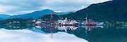 Early morning mood at Kleven Yard, nearby Ulsteinvik, Norway    Tidlig morgenstemning på Kleven Verft ved Ulsteinvik, Norge