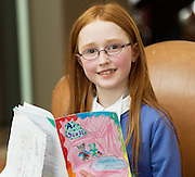 REPRO FREE:  Arienne Nic Dhochairtaigh from Attymon at the Galway Education Centre's Scriobh Leabhair at the Radisson Blu hotel where national school pupil wrote and Illustrated their own books. Photo:Andrew Downes, xposure.