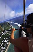 Hang gliding, Rarotonga, Cook Islands<br />