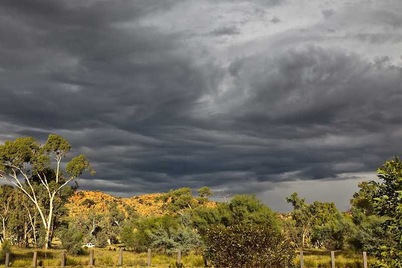 Beautiful afternoon light and cloud formation over Alice Springs on the evening of the flood warnings