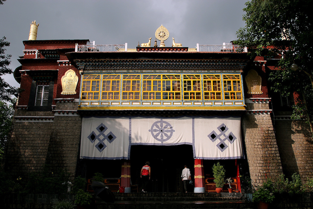 Deden Tsuglagkhang Temple at the Norbulingka Institute, dedicated to preserving Tibetan Culture. Dharamsala, India.