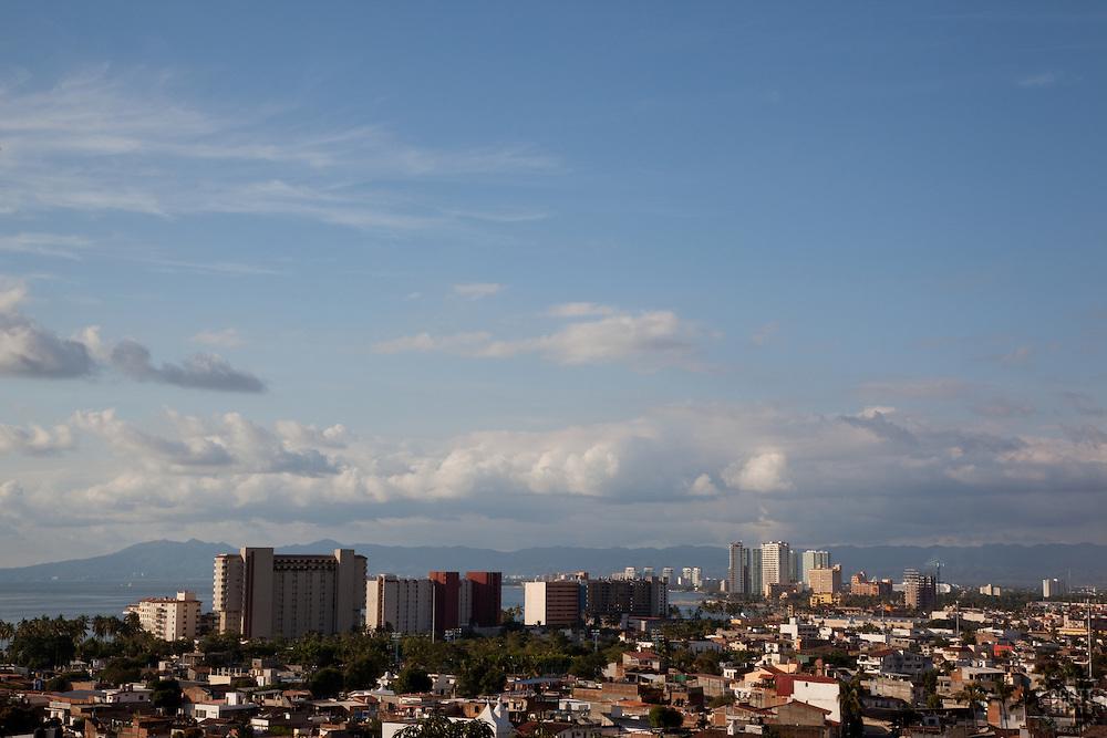 """""""Puerto Vallarta, Mexico"""" - View of the city of Puerto Vallarta, Mexico."""