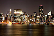 New York, New York. Etats Unis. 20 Decembre 2010.Vue de Manhattan depuis Brooklyn..New York, New York. United States. December 20th 2010.Manhattan view from Brooklyn