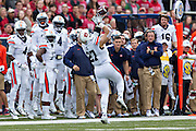 FAYETTEVILLE, AR - OCTOBER 24:  Chandler Cox #27 of the Auburn Tigers drops a pass during a game against the Arkansas Razorbacks at Razorback Stadium Stadium on October 24, 2015 in Fayetteville, Arkansas.  The Razorbacks defeated the Tigers in 4 OT's 54-46.  (Photo by Wesley Hitt/Getty Images) *** Local Caption *** Chandler Cox
