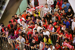 KUALA LUMPUR, MALAYSIA - Wednesday, July 22, 2015: Liverpool supporters during an event at the Mid Valley Mega Mall on day ten of the club's preseason tour. (Pic by David Rawcliffe/Propaganda)