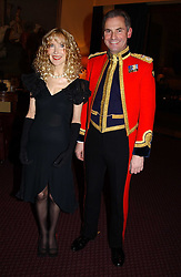 MRS RICHARD BRIGGS and COL.VALENTINE WOYKA Commanding officer of the Household Cavalry at a reception to support The Hyde Park Appeal held in the Officers Mess, Household Cavalry Mounted Regiment, Hype Park Barracks, Knightsbridge, London SW1 on 30th November 2004.<br /><br />NON EXCLUSIVE - WORLD RIGHTS