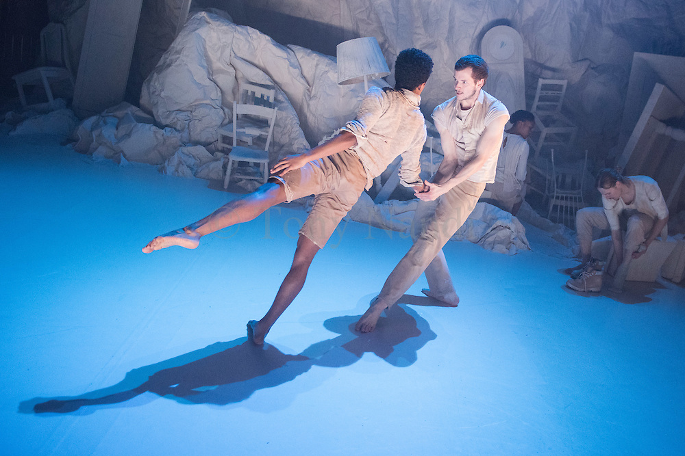 Hubert Essakow's Terra has its World Premiere on 23 February and runs until 12 March. It will be the first dance performance in the main auditorium of the Print Room's new home, the Coronet in Notting Hill. Essakow sends his dancers on a journey through the shifting horizons and changing seasons of an increasingly unpredictable earth.  The set designs by Belgian visual artists Sofie Lachaert and Luc d'Hanis evoke a bleak landscape of sand and rock. Picture features dancers Luke Crook, and Benjamin Warbis.