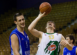 Gasper Vidmar of Olimpija at Superpokal basketball match between KK Union Olimpija and Elektra Esotech, on September 27, 2009, in Arena Tivoli, Ljubljana, Slovenia.  (Photo by Vid Ponikvar / Sportida)