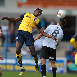 TELFORD COPYRIGHT MIKE SHERIDAN Dylan Barkers during the Vanarama National League Conference North fixture between AFC Telford United and Guiseley on Saturday, October 19, 2019.<br /> <br /> Picture credit: Mike Sheridan/Ultrapress<br /> <br /> MS201920-026