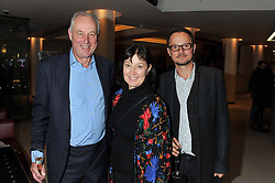 Left to right, TIM YEO MP, his wife DIANE YEO and JOHNNY YEO at the launch Sanctuary, Britains Artists and their Studios held at Christies, 8 King Street, St.James's, London on 13th March 2012.