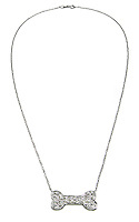 maven dog bone diamond necklace