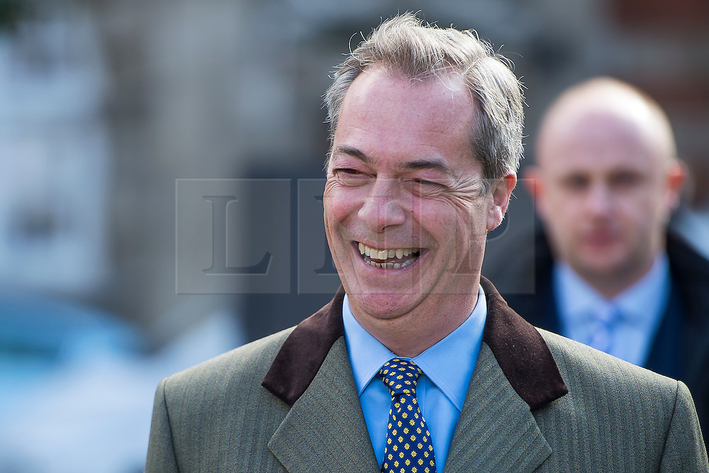© Licensed to London News Pictures. 16/03/2016. London, UK. UKIP leader NIGEL FARAGE In Westminster on the day that George Osborne delivered his budget to parliament. Photo credit: Ben Cawthra/LNP