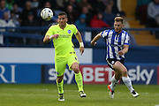 Brighton striker, Tomer Hemed (10) during the Sky Bet Championship Play Off First Leg match between Sheffield Wednesday and Brighton and Hove Albion at Hillsborough, Sheffield, England on 13 May 2016.