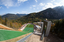 View on the hill during Slovenian summer national championship and opening of the reconstructed Bloudek's hill in Planica on October 14, 2012 in Planica, Ratece, Slovenia. (Photo by Matic Klansek Velej / Sportida)