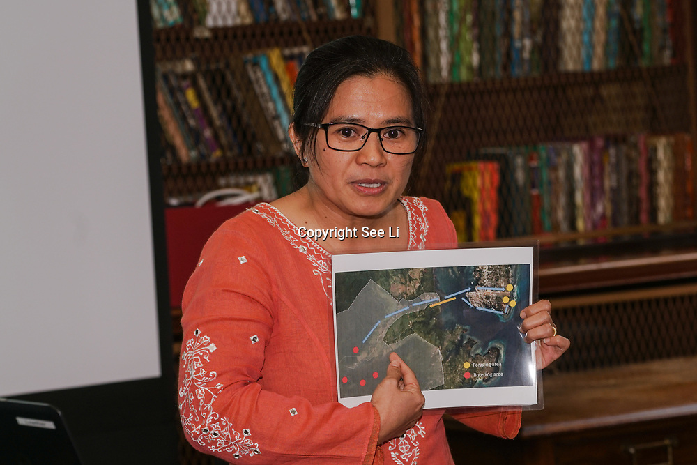 London,England,UK. 17th May 2017. Indira Kacerna - Widmann from Philippines winner of the 2017 Whitley Awards holds a Press conference at The Royal Geographical Society. by See Li