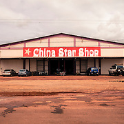 Lethem, Guyana. One of the many shops owned by Chineses where many Brazilians come to shop every day from the neighbour town of Bonfim, on the Brazilian side of the border