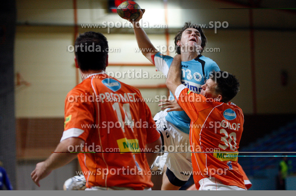 Sebastijan Skube of Trimo Trebnje at  handball game between RD Knauf Insulation and RK Trimo Trebnje, on September 22, 2008, in Arena Poden, Skofja Loka, Slovenija. (Photo by Vid Ponikvar / Sportal Images)