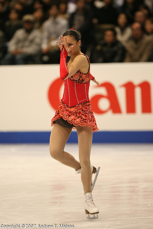 TOKYO - MARCH 23: Sarah Meier of Switzerland performs during the Ladies Short program during the World Figure Skating Championships at the Tokyo Gymnasium on March 23, 2007. (Photo By Andrew T. Malana)