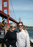 Courtney Blitch and George Long near Golden Gate Bridge; San Francisco, California
