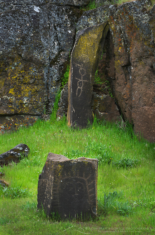 Columbia Hills State Park, Washington Horsethief Lake Petroglyphs