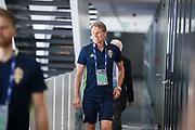 SWIDNIK, POLEN 2017-06-21<br /> H&aring;kan Ericson anl&auml;nder till den svenska U21 landslagets MD-1 presskonferens p&aring; Stadion Miejski, den 21 juni i Swidnik, Polen.<br /> Foto: Nils Petter Nilsson/Ombrello<br /> Fri anv&auml;ndning f&ouml;r kunder som k&ouml;pt U21-paketet.<br /> Annars Betalbild.<br /> ***BETALBILD***