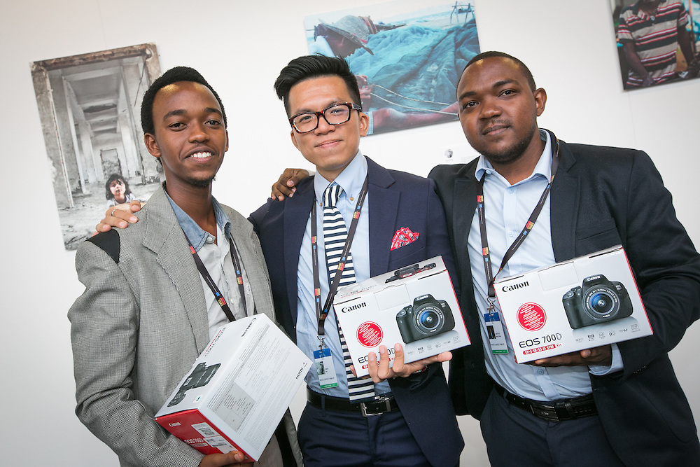 03 June 2015 - Belgium - Brussels - European Development Days - EDD - Photos Contest -  Jean Luc Habimana , Rwanda - Huy Dang , Vietnam - Daryll Peter Griffith , Trinidad & Tobago © European Union