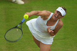 LONDON, ENGLAND - Saturday, June 26, 2010: Maria Sharapova (RUS) during the Ladies' Singles 3rd Round match on day six of the Wimbledon Lawn Tennis Championships at the All England Lawn Tennis and Croquet Club. (Pic by David Rawcliffe/Propaganda)