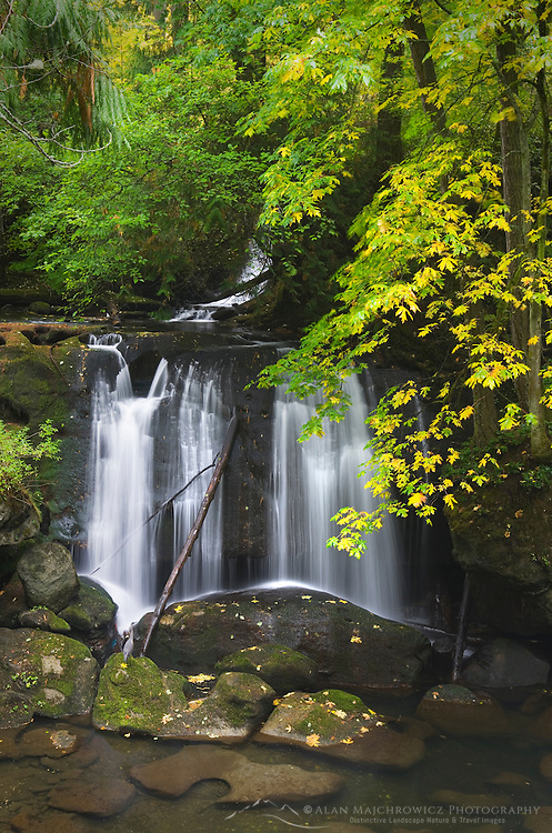 Whatcom Falls in Autumn Bellingham, Washington