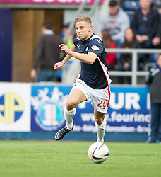 Falkirk's Alex Cooper. Falkirk 0 v 2 Rangers, Scottish Championship game played 15/8/2014 at The Falkirk Stadium.
