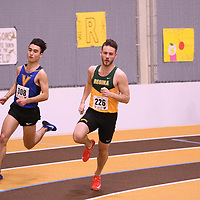 Mason Lanigan in action during the 2018 Canada West Track & Field Championship on February  24 at James Daly Fieldhouse. Credit: Arthur Ward/Arthur Images