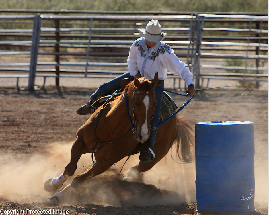 Barrel racing at its finest in Arizona
