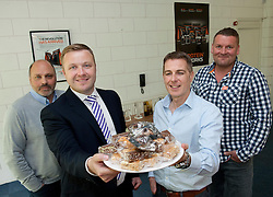 Pictured is, from left, The Protein Works co-founder Karl Jacobie, Yorkshire Bank's relationship manager Marc De-Brabander, and The Protein Works co-founders Mark Coxhead and Nick Smith.<br /> Yorkshire Bank have supported The Protein Works with the development of a bakery at their site in Runcorn, which has allowed them to expand their product range.<br /> <br /> Yorkshire Bank - The Protein Works<br /> <br /> June 12, 2015