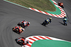 June 17, 2018 - Barcelona, Catalonia, Spain - Jorge Lorenzo (99) of Spain and Ducati Team, Marc Marquez (93) of Spain and Repsol Honda Team, Andrea Dovizioso (4) of Italy and Ducati Team, Valentino Rossi (46) of Italy and  Movistar Yamaha MotoGP during the race day of the Gran Premi Monster Energy de Catalunya, Circuit of Catalunya, Montmelo, Spain. 17th June of 2018. (Credit Image: © Jose Breton/NurPhoto via ZUMA Press)
