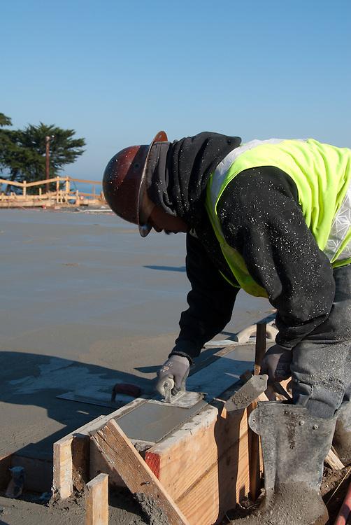 Concrete work at the Golden Gate Bridge