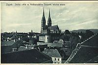 Zagreb : Stolna crkva sa Nadbiskupskim Dvorom, istočna strana. <br /> <br /> ImpresumZagreb : Knjižara i papirnica Kugli, [između 1920 i 1940].<br /> Materijalni opis1 razglednica : tisak ; 9 x 14,2 cm.<br /> NakladnikKnjižara Stjepan Kugli (Zagreb)<br /> Mjesto izdavanjaZagreb<br /> Vrstavizualna građa • razglednice<br /> ZbirkaGrafička zbirka NSK • Zbirka razglednica<br /> Formatimage/jpeg<br /> PredmetZagreb –– Kaptol<br /> Katedrala Uznesenja Marijina (Zagreb)<br /> SignaturaRZG-KAP-72<br /> Obuhvat(vremenski)20. stoljeće<br /> NapomenaRazglednica nije putovala.<br /> PravaJavno dobro<br /> Identifikatori000955760<br /> NBN.HRNBN: urn:nbn:hr:238:558043 <br /> <br /> Izvor: Digitalne zbirke Nacionalne i sveučilišne knjižnice u Zagrebu