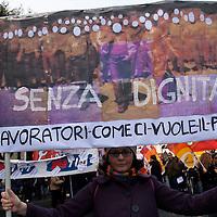 Manifestazione contro accordo Fiat di Mirafiori