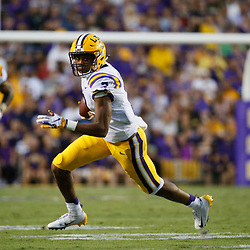 Sep 8, 2018; Baton Rouge, LA, USA; LSU Tigers wide receiver Jonathan Giles (7) against the Southeastern Louisiana Lions during the second quarter of a game at Tiger Stadium. Mandatory Credit: Derick E. Hingle-USA TODAY Sports