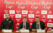(L-R) Tomasz Majewski and Krzysztof Klimczak and Sebastian Chmara during press conference before athletics meeting Pedro's Cup 2014 at Press Centre of Polish Press Agency in Warsaw, Poland.<br /> <br /> Poland, Warsaw, January 14, 2014.<br /> <br /> Picture also available in RAW (NEF) or TIFF format on special request.<br /> <br /> For editorial use only. Any commercial or promotional use requires permission.<br /> <br /> Mandatory credit:<br /> Photo by &copy; Adam Nurkiewicz / Mediasport